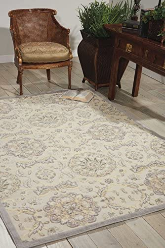 Nourison Graphic Illusions Ivory Rectangle Area Rug, 2-Feet 3-Inches by 3-Feet 9-Inches 2 3 x 3 9