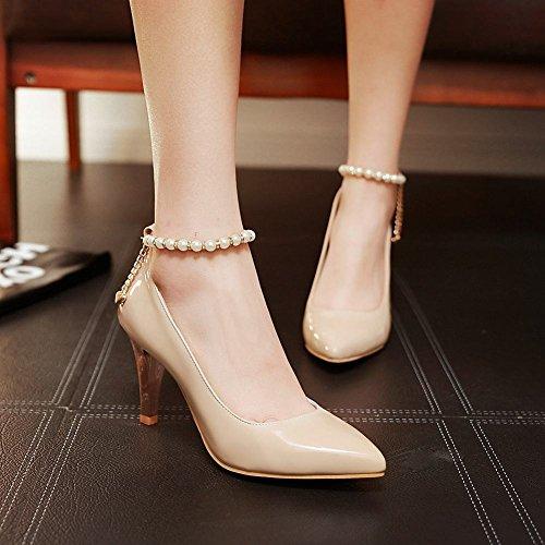 Scarpe Da Donna Latasa Con Cinturino Alla Caviglia Scarpe A Punta Tacco Alto Scarpe Albicocca