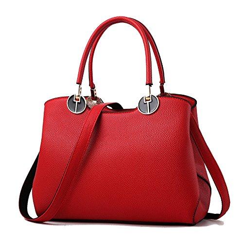 Sac à Main Féminin Nouveau Sac De Marée Stéréotypes Féminins Sweet Lady Sac à Main Sac à Bandoulière Messenger Red