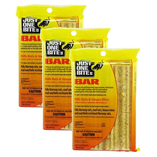 (Just One Bite 16 oz. Rat Poison Cakes (Pack of 3))