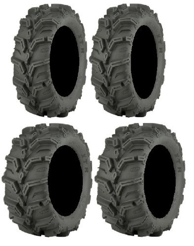 Full set of ITP Mud Lite XTR (6ply) 25x8-12 and 25x10-12 ATV Tires (2)