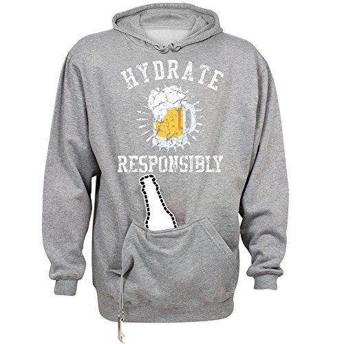 Beer Hoodie Mens Sweatshirt (Hydrate Responsibly: Unisex J. America Tailgate Hoodie)