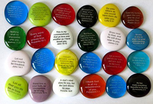 Scripture Stone (Scripture Glass Stones, 24 of Your Favorite Inspiring Bible Verses on Translucent and Opaque Rocks, by Lifeforce Glass, Set I.)