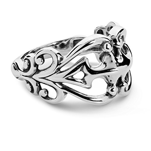 (Carolyn Pollack Sterling Silver Open Scroll Ring Sizes 5)