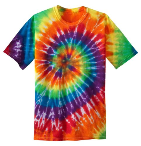 Port & Company PC147 Essential Tie-Dye Tee - Rainbow - L -