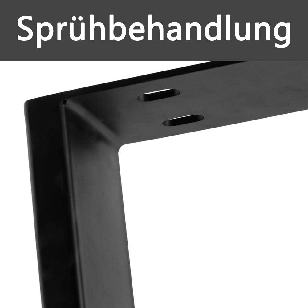 Schwarz HENGMEI 2 x Tischgestell M/öbelf/ü/ße Stahl Pulverbeschichtet Tischkufen Tischbein Tischuntergestell 60x72cm Rechteck-Gestell