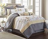 Nanshing America Candice12-Q Comforter Set, Queen, Gray