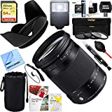 Sigma (886-101 18-300mm F3.5-6.3 DC Macro OS HSM Lens (Contemporary) for Canon EF Cameras + 64GB Ultimate Filter & Flash Photography Bundle
