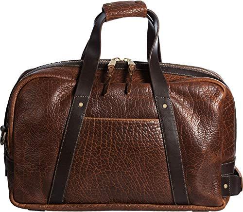 Legacy American Bison Leather Weekender Duffel Bag