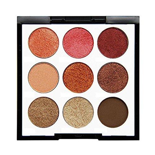 Binmer 9 Color Eyeshadow Palette Set, Cosmetic Pearl Powder