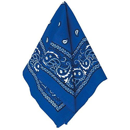 Amscan 255561.22 Bandana Accessory, 7.8″ x 5.25″, Blue