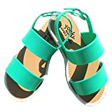Huhua Sandals For Girls, Summer Toddler Kids Baby Girs Sandals Mesh Loafer PU Leather Buckle Pricness Single Shoes For Girls 2 Years Old