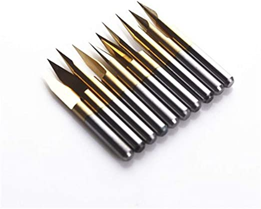 10 x Carbide PCB Engraving CNC Bit Router 90 Deg 0.5mm