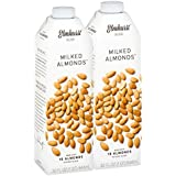 Elmhurst Milked Almond Milk - 32 Fluid Ounces (Pack of 2) Only 5 Ingredients, 4X the Protein, Non Dairy, Keto Friendly, No Added Gums or Emulsifiers, Vegan