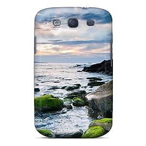 UIGZOvL3359RkmrZ Beautiful Stone Beach Fashion Tpu S3 Case Cover For Galaxy