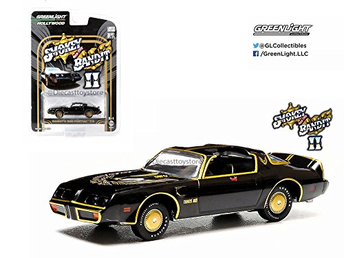 (GREENLIGHT 1:64 HOLLYWOOD - SMOKEY AND THE BANDIT II - BANDIT'S 1980 PONTIAC T/A DIECAST TOY CAR 44710-B)