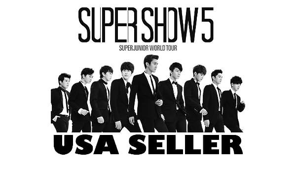Amazon com: Super Junior Super Show 5 horiz b&w POSTER 34 x 23 5