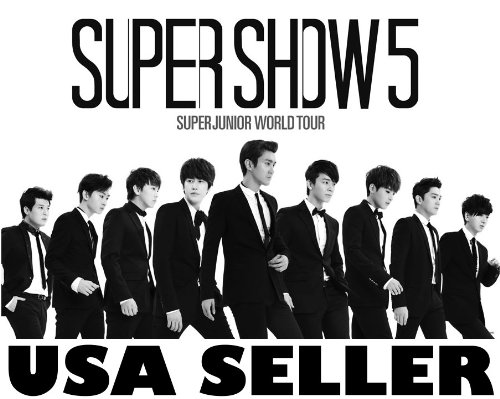 Super Junior Super Show 5 horiz b&w Poster Superjunior Suju Korean Kpop boy band
