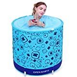 LQQGXL,Bath Children's bathtub, adult family folding inflatable bathtub, thick bathtub, plastic bathtub, blue Inflatable bathtub