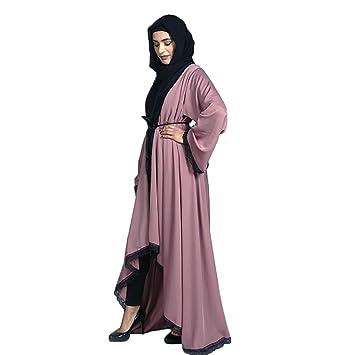 Ladies Womens Beautiful Elegant Islamic Winter  Abaya Jilbab Hijab Muslim Dress