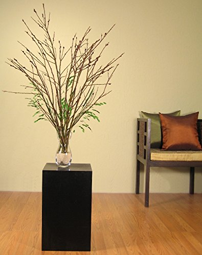 Green Floral Crafts 3 - 4 ft. Black Pussy Willow & Diamond Grass Kit (Vase Not Included) (Grass Willow)