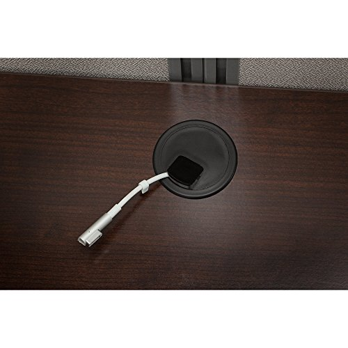 Bush Business Furniture Easy Office 60W L Shaped Desk Open Office in Mocha Cherry by Bush Business Furniture (Image #5)'