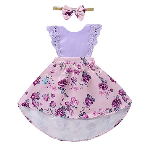 Little Big Sister Newborn Baby Toddler Girl Summer Flower Romper Dress Headband Clothes Outfits Family Matching Big Sister 5 Years