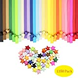 Canika 1350 Sheets Origami Stars Papers Package,Origami Stars Papers Children Kids DIY Craft Assorted Colors,Lucky Star Paper,Folding Strips-27 Colors