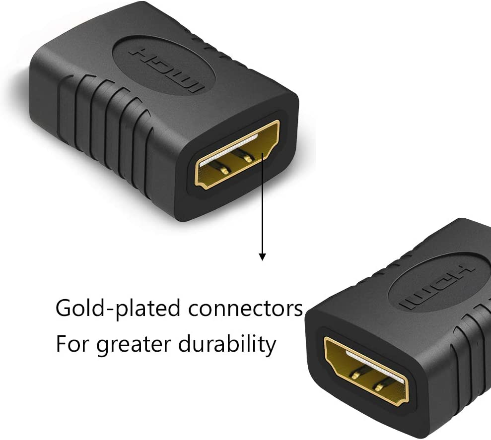 2 Pack HDMI Coupler HDMI 1080P Female to Female Connector Adapter