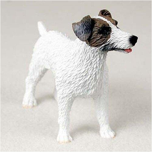 Jack Russell Rough - Jack Russell Terrier, Rough Coat, Brown/White Original Dog Figurine (4in-5in)