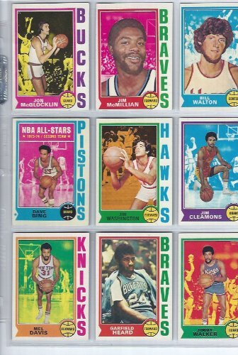 1974 1974/75 Topps Basketball Card Complete Set 264 Cards Some of the Featured Players Are: Kareem Abdul-jabbar, Bill Walton, Jerry West, George Gervin, Julius Erving, Wilt Chamberlain, and Many More Stars! ()