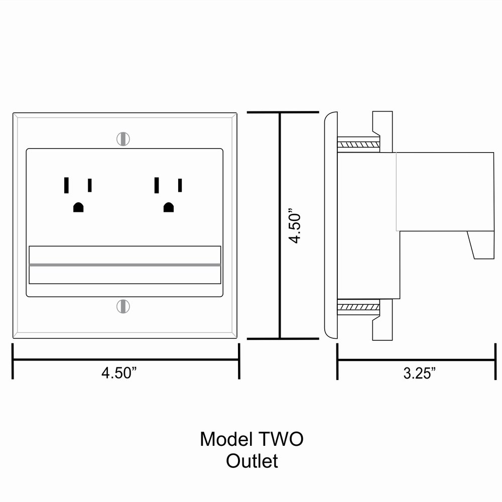 PowerBridge TWO-CK Dual Outlet for TV and Sound-Bar Recessed In-Wall Cable Management System Kit (TWOSB-CK) by PowerBridge Solutions (Image #12)