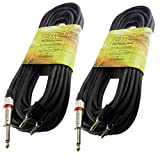 2 PACK 25 ft foot feet 1/4 to dual banana plug speaker speaker cord cable DJ PA