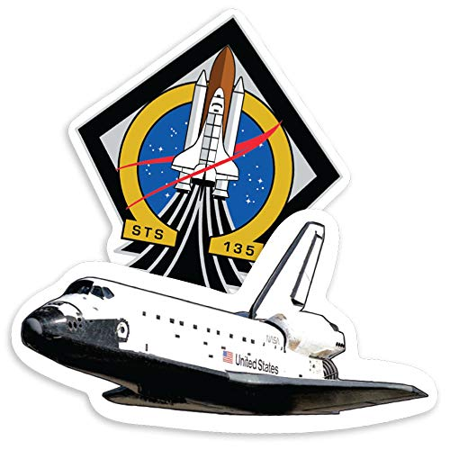 Popfunk NASA Space Shuttle Atlantis STS-135 Collectible Stickers ()