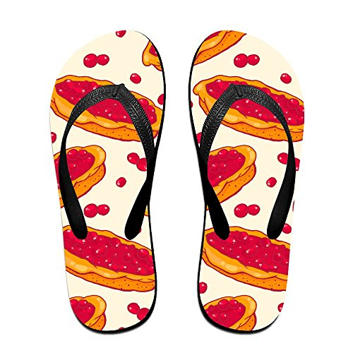 8453f9b1c7ba3 Colorful Seamless Pattern With Tasty Cherry Pie Unisex Fashion Beach Sandals  Classical Flip Flops Thong Sandals