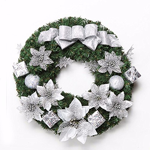 Christmas Garland for Stairs fireplaces Christmas Garland Decoration Xmas Festive Wreath Garland with Christmas Wreath Christmas,30cm by Caribou Furniture And Decor