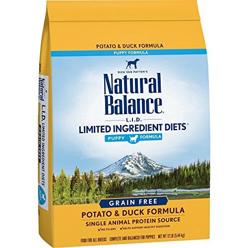Natural Balance Puppy Formula L.I.D. Limited Ingredient Diets Dry Dog Food, Potato & Duck Formula, Grain Free, 12-Pound