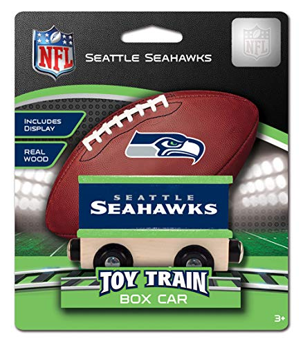 (MasterPieces NFL Seattle Seahawks Wood Toy Train Boxcar)