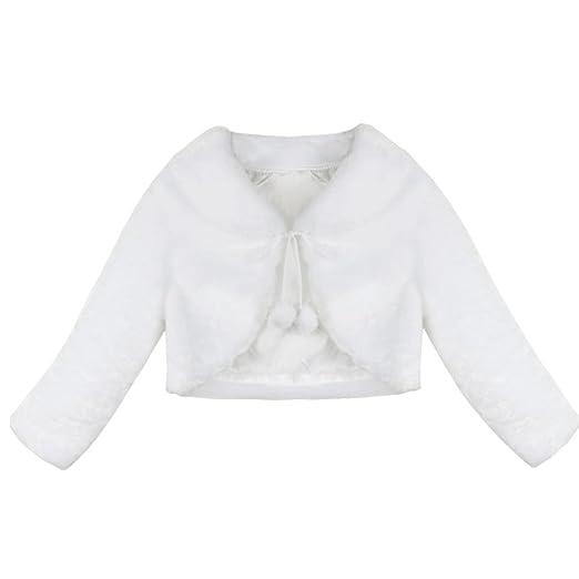 7033434e0 Amazon.com  Agoky Infant Baby Girls Princess Faux Fur Shrug Cape ...