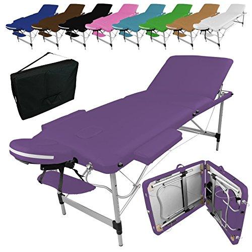 6 opinioni per Linxor ® Lettino da massaggio pieghevole 3 zone in alluminio + accessori e sacca