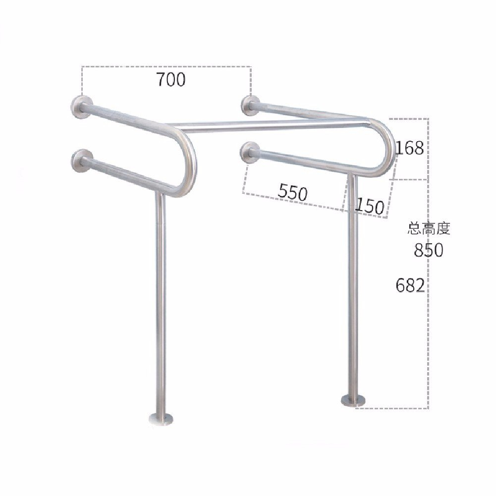 WAWZJ Handrail 304 Stainless Steel Handrails For The Disabled Toilet Safety Barrier Free Handrail,B,Sanding