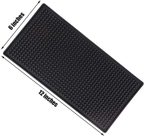 Smilesun 3 PCS 12 x 6 Black Bar Mat Rubber Bar Service Spill Mat