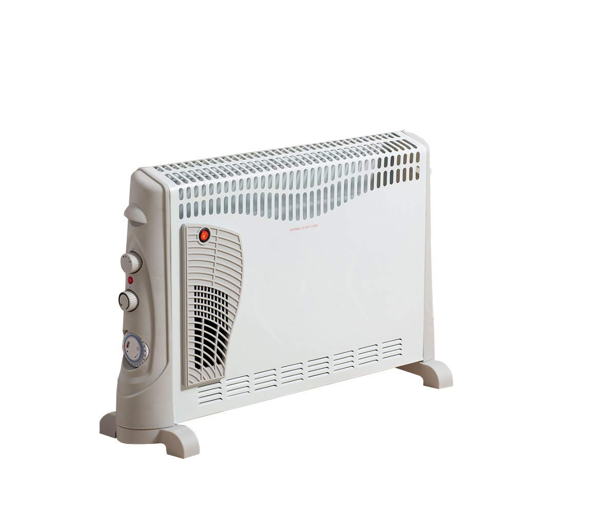 Daewoo 2000W Convector Heater with Turbo Function - 3 Heat Settings, Portable Carry Handle, Adjustable Thermostat & Timer with Fan Setting - White Fine Elements HEA1137