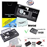Motorized VHS-C Cassette Adapter For JVC C-P7U CP6BKU C-P6U,Panasonic PV-P1,RCA VCA115 + 1 VCC113 Micro-Fiber Cloth