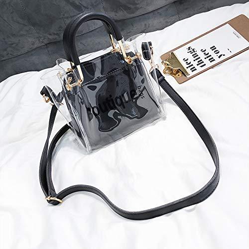 Transparent marée Petit Sac WSLMHH Noir Sac épaule Messenger Bag Femme Sauvage d'été Portable EqWU5
