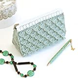 Braided Fastener Crochet Kit Knitting at Emmy Grande Lace Pouch with Shimmering Pattern