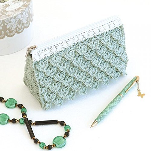 Braided Fastener Crochet Kit Knitting at Emmy Grande Lace Pouch with Shimmering Pattern by Olempus made cord