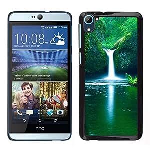 // PHONE CASE GIFT // Duro Estuche protector PC Cáscara Plástico Carcasa Funda Hard Protective Case for HTC Desire D826 / Waterfall Fresh Spring /