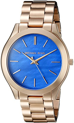 Michael Kors Women's Slim Runway Rose Gold Watch MK3494