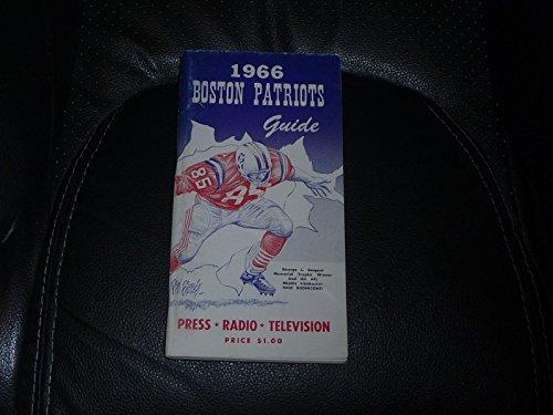 VINTAGE 1966 AFL BOSTON PATRIOTS FOOTBALL MEDIA GUIDE NO PUNCH HOLES.